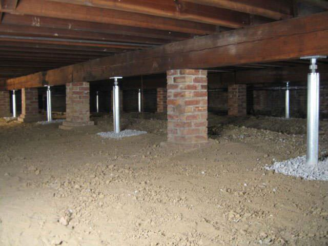 Different methods of crawl space foundation repair in for What is the best foundation for a house