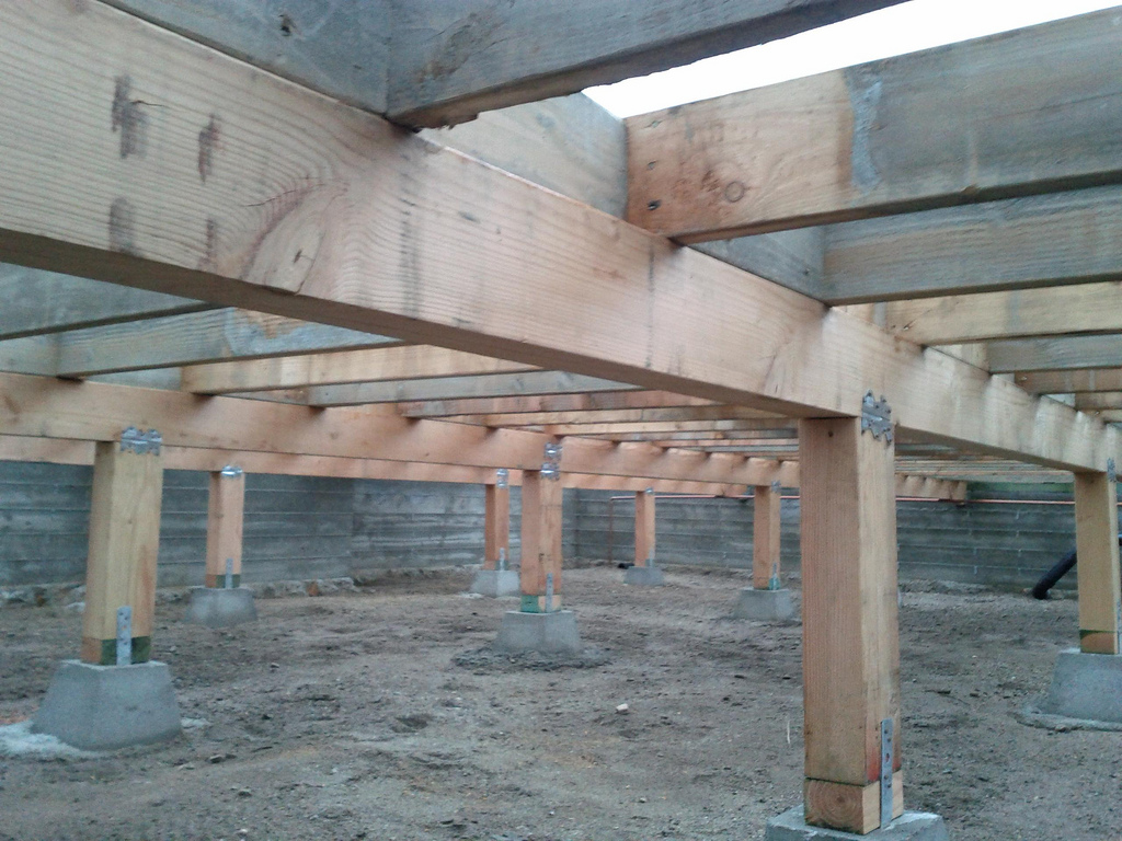 How crawl space leaking can damage your pier and beam for How to build a post and pier foundation