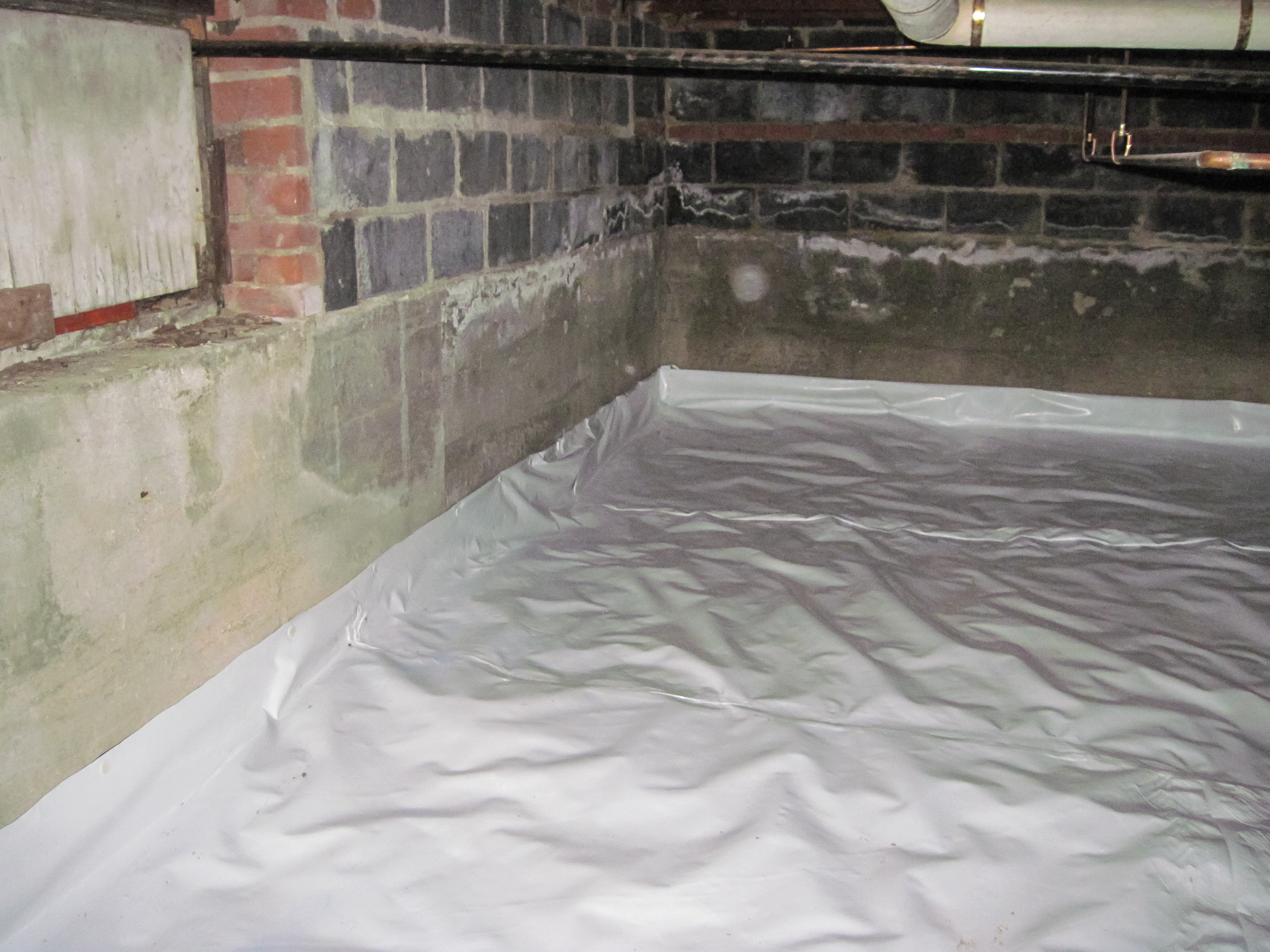 How crawl space leaking can damage your pier and beam for Concrete in crawl space
