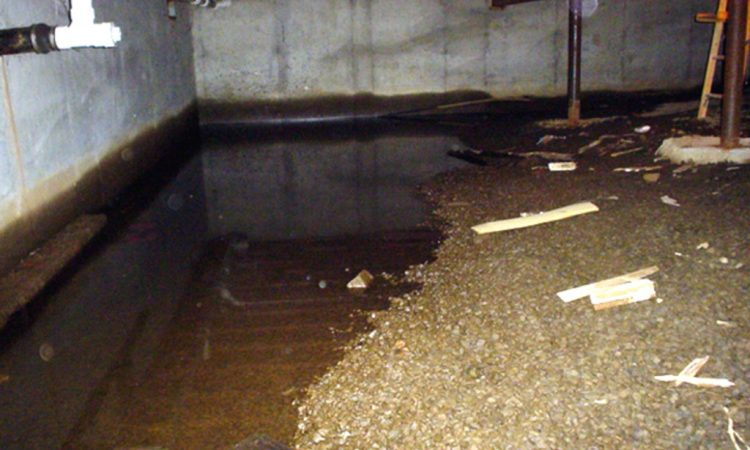 crawl space leaking